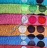Махровое лицевое полотенце Кружочки