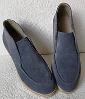 Loro Piana! Женские лоферы туфли полу ботинки натуральная замша Лора Пиана, фото 1