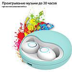 Беспроводные наушники блютуз гарнитура Wi-pods K10 наушники bluetooth 5.0 Оригинал мята, фото 3
