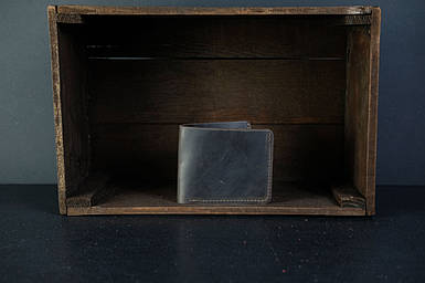 Кожаный кошелек портмоне Компакт Винтажная кожа цвет Шоколад