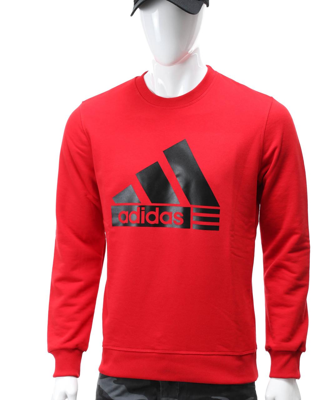 Свитшот красный ADIDAS с лого RED S(Р) 20-412-011
