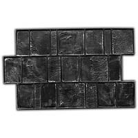 Брусчатка 60х37 - резиновый штамп для печати по бетону; текстура имитация гладкой брусчатной укладки;