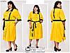 Летнее льняное платье Размеры:  66-68.70-72, фото 2