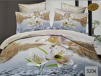 Сатиновое постельное белье евро 3D ELWAY S204