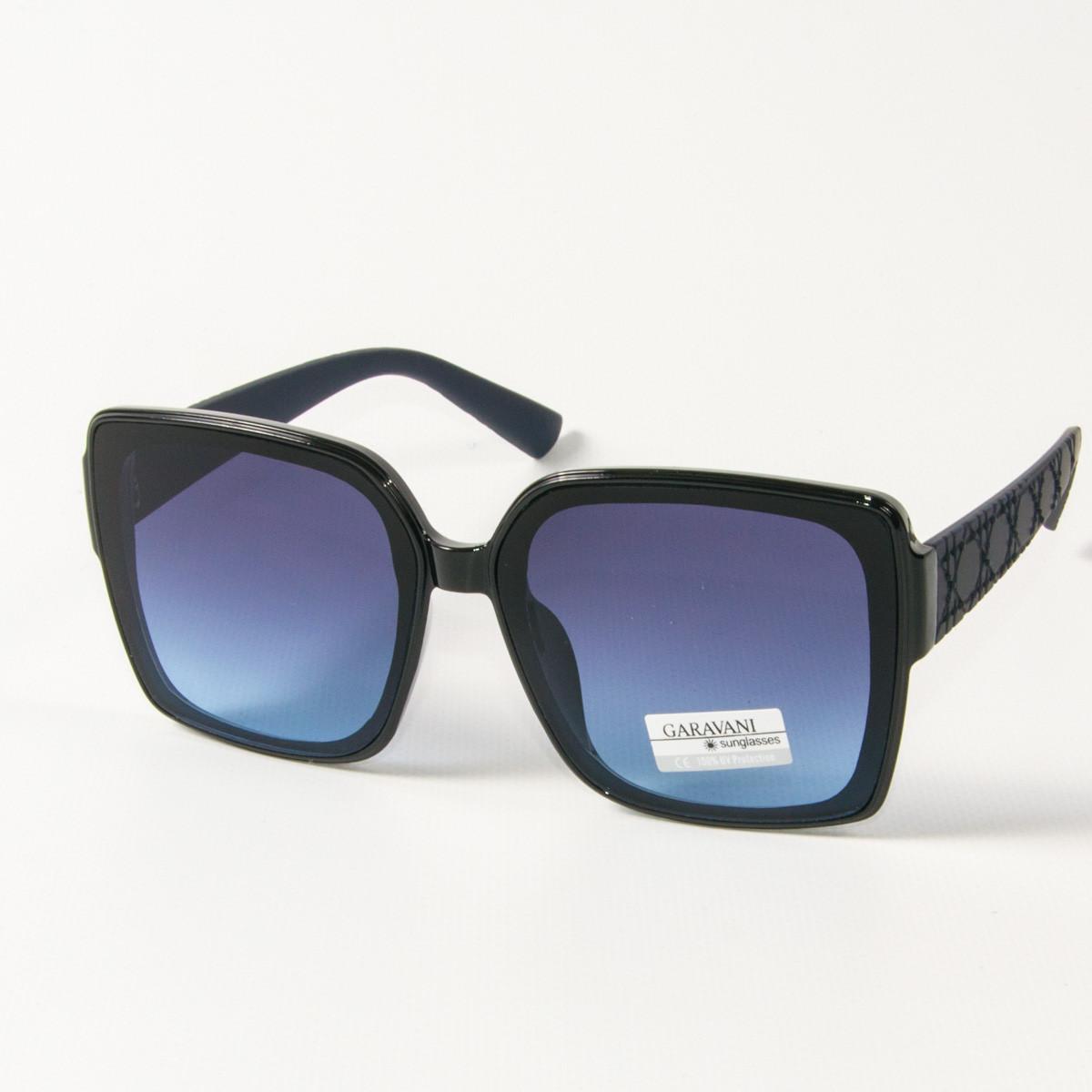 Оптом женские солнцезащитные  квадратные очки  (арт. 33704/3) синие