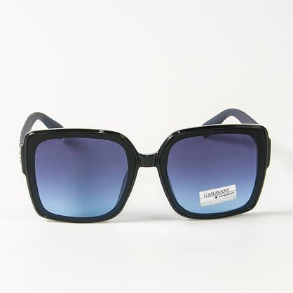 Оптом женские солнцезащитные  квадратные очки  (арт. 33704/3) синие, фото 2