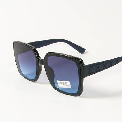 Оптом женские солнцезащитные  квадратные очки  (арт. 33704/3) синие, фото 3