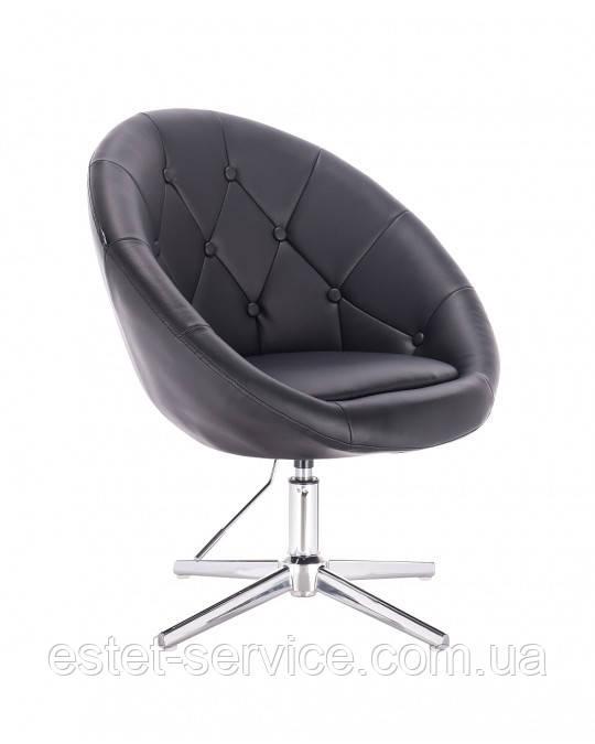Кресло HC8516 на хромированных стопках в ЦВЕТАХ кожзам с пуговицами