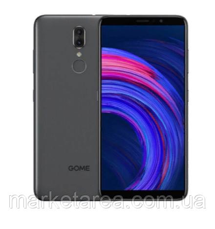 Смартфон черный с большим дисплеем и двойной камерой на 2 сим карты GOME Fenmmy Note black 4/64 гб