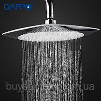 Вбудований змішувач для ванни з 3-функціями виливши є перемикачем на лійку білий / хром Gappo Noar G7148-8, фото 3