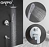 Вбудований змішувач для ванни з 3-функціями виливши є перемикачем на лійку білий / хром Gappo Noar G7148-8, фото 2