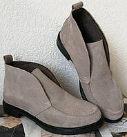 Loro Piana! Женские лоферы туфли полу ботинки натуральная замша Лора Пиана