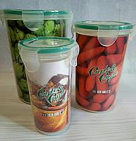 Набор герметичных контейнеров для хранения продуктов 3 шт