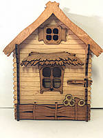 Ключница домик мал. (330*270*100 mm)