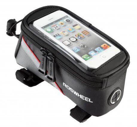 """Сумка на раму под смартфон Roswheel 6.5 """"12496L-C5 черный / красный"""