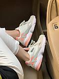 Женские замшевые кроссовки Adidas Falcon White (Адидас Фалькон белые), фото 6