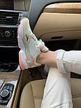 Женские замшевые кроссовки Adidas Falcon White (Адидас Фалькон белые), фото 3