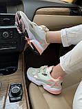 Женские замшевые кроссовки Adidas Falcon White (Адидас Фалькон белые), фото 7