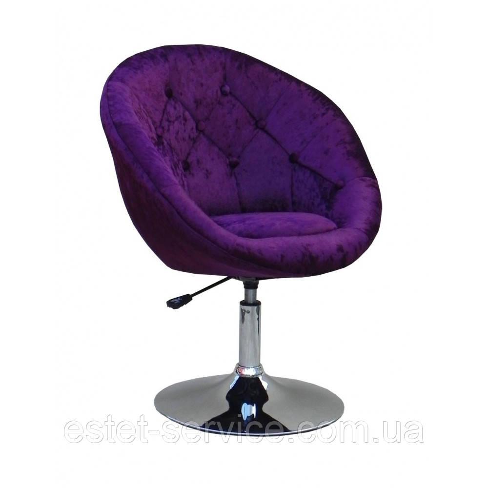 Кресло HC8516 на низкой барной основе в оббивке блестящий ВЕЛЮР с пуговицами