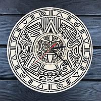 Оригинальные настенные часы из дерева «Календарь Майя», фото 1