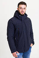 Весенняя мужская куртка темно-синяя (48-68рр)