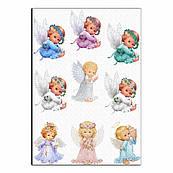 Ангелочки 8см вафельная картинка