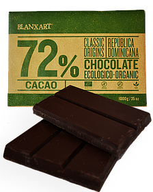 Органічний чорний шоколад 72 % Blanxart