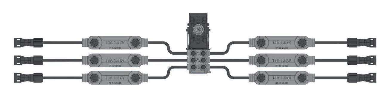 Ізольований шлейф с проколюючим конектором DC IPC Solar: 6-WAY Harness