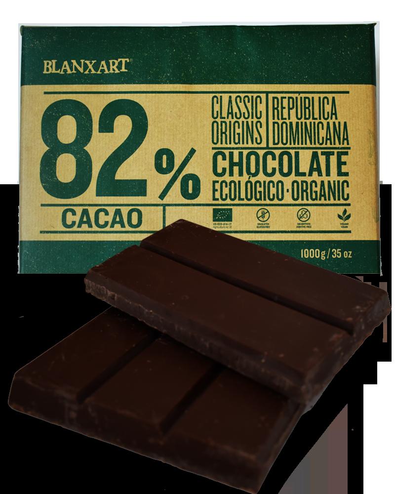 Органічний чорний шоколад 82 % Blanxart
