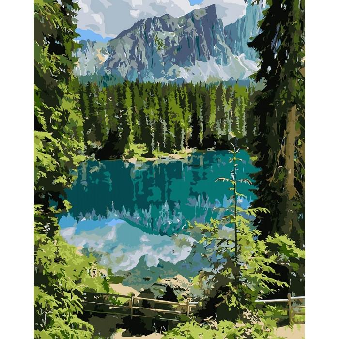 Картина по номерам Загадочное озеро KHO2270 Идейка 40 х 50 см (без коробки)