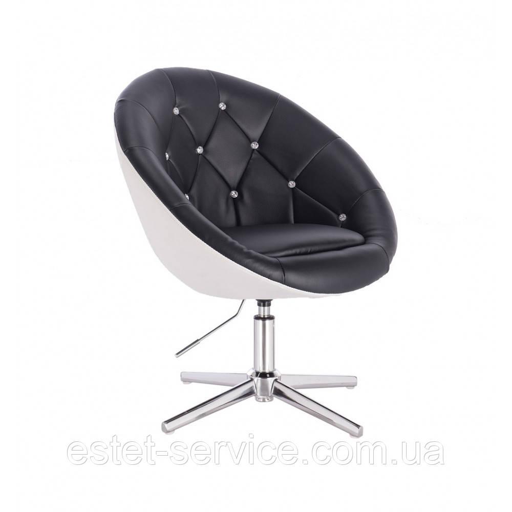 Кресло мастера HC8516K на стопках в ДВУХ ЦВЕТАХ кожзам стразы