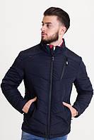 Весенняя мужская куртка синяя (46-54рр)