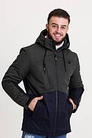 Весенняя мужская куртка хаки (46-54рр)