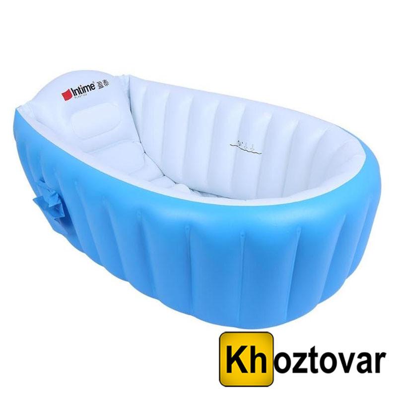 Надувная ванночка для детей с насосом Intime Baby Bath Tub