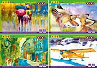 Альбом для малювання, А4, 40 аркушів, 120 г/м2, на скобі, KIDS Line /128/