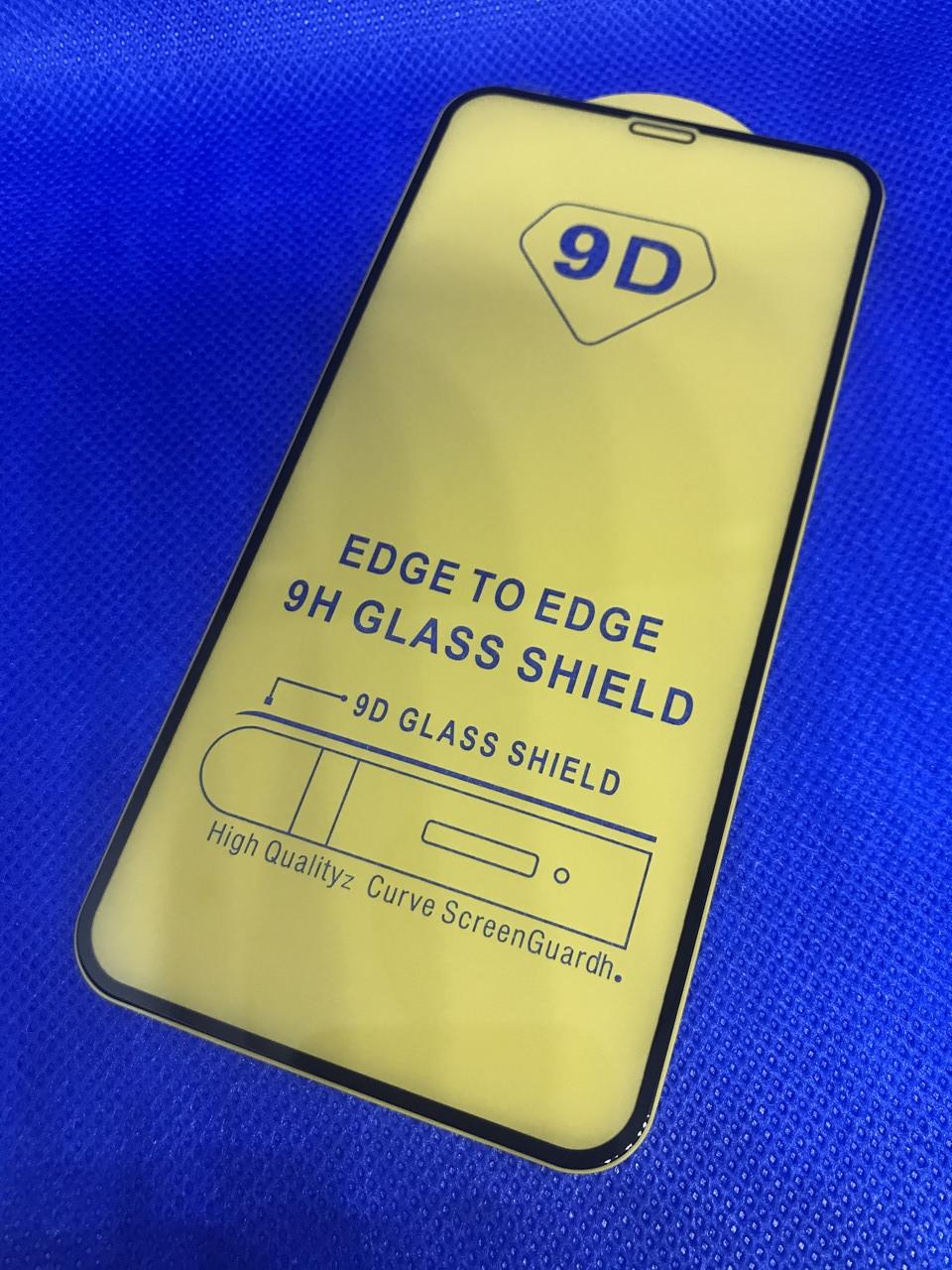 Iphone X защитное 3D 5D 6D 9D стекло Full Glue полное покрытие (черная окантовка) полный к