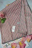 Женский Платок Шелковый брендовый Dior Диор. 90*90 см., фото 3