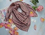 Женский Платок Шелковый брендовый Dior Диор. 90*90 см., фото 2