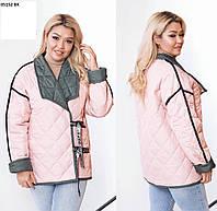 Женская куртка двусторонняя батал 05152 ВХ