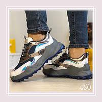 Женские кроссовки на шнурках текстиль джинс, фото 1