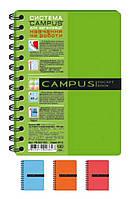 Блокнот В6 Campus Pocketbook на спирали, 120л пласт. обложка, 3раздел. РВ63120-810 в асорт. /5/