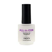 All-in-One Универсальное покрытие для лака 3 в 1 Naomi, 15 мл