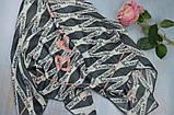 Женский Платок Шелковый брендовый Balenciaga Баленсиага Ручная обработка края, фото 2