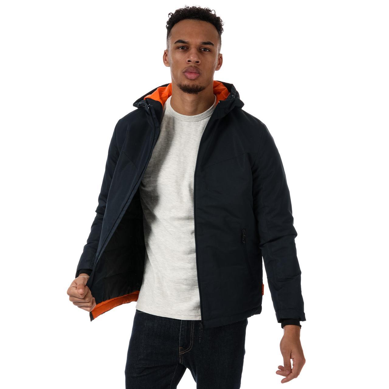 Демисезонная синяя мужская куртка прямая Jack Jones Mens Barkley Jacket
