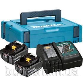 Набор аккумуляторов LXT (BL1840x2, DC18RC, Makpac1) Makita (197494-9)