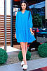 Летнее льняное платье -рубашка, фото 2
