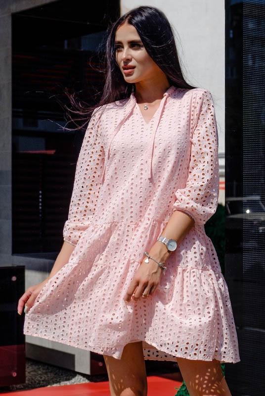 Летнее льняное платье -рубашка
