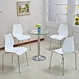 Штабельована стілець Лілі, метал, хром, колір чорний, фото 2