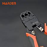 Кримпер профессиональный для обжимки коннектора RJ-45/RJ-11/RJ-9, 190 мм Harden Tools 660631, фото 3