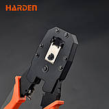 Кримпер профессиональный для обжимки коннектора RJ-45/RJ-11/RJ-9, 190 мм Harden Tools 660631, фото 5